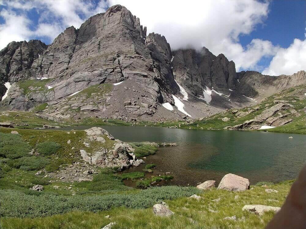 Awe of mountain lake