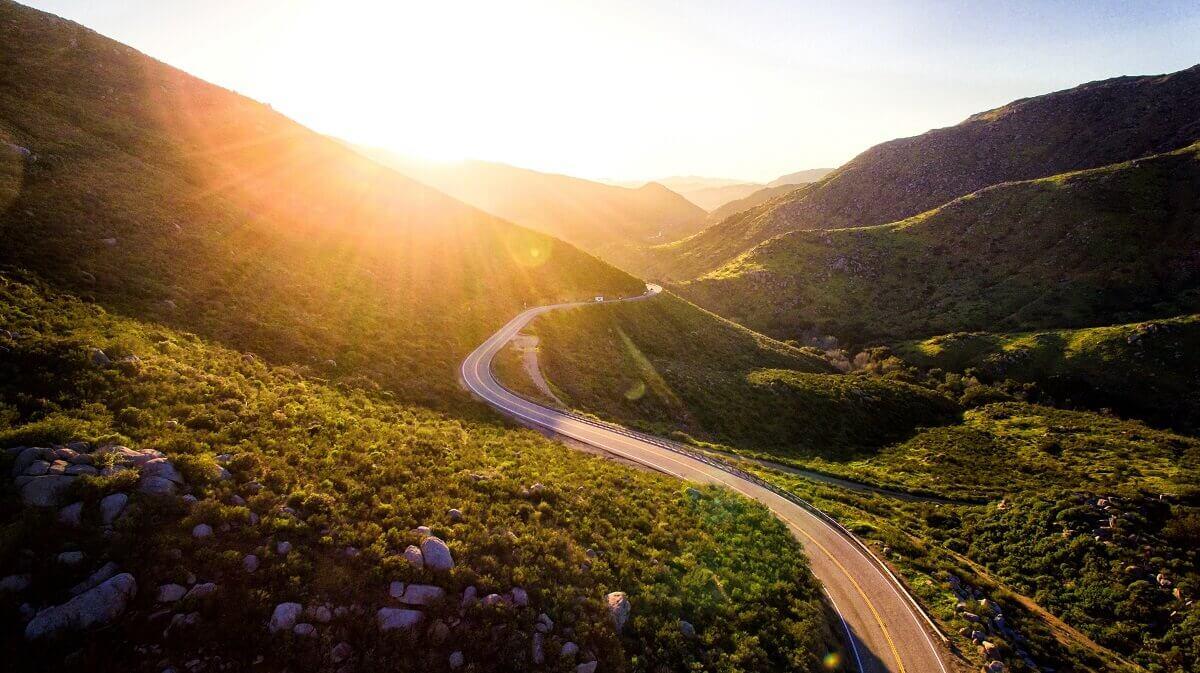 A road through the mountains