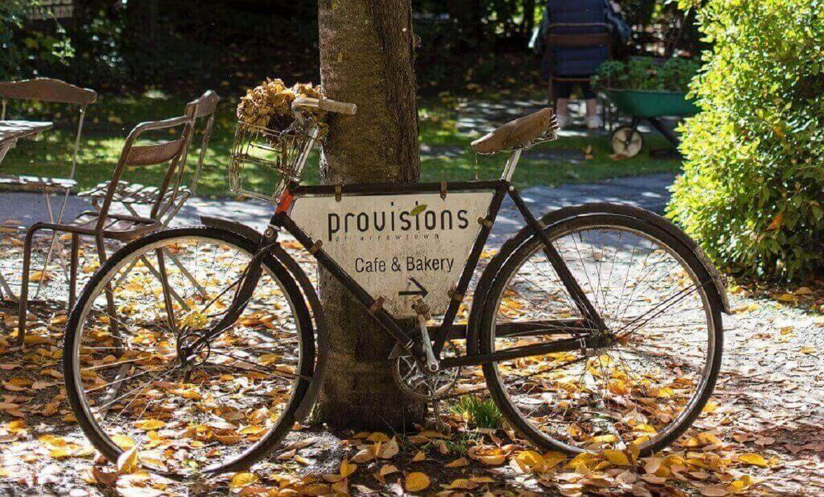 Bicycle with Provision sign