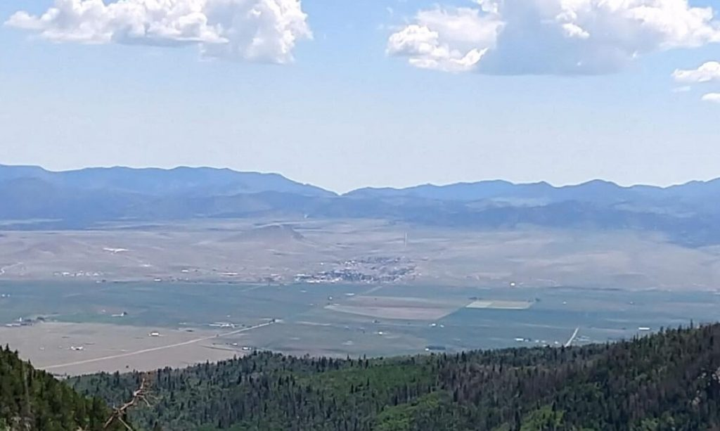 Valley view from 10700 feet