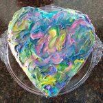Heart cake swirl icing